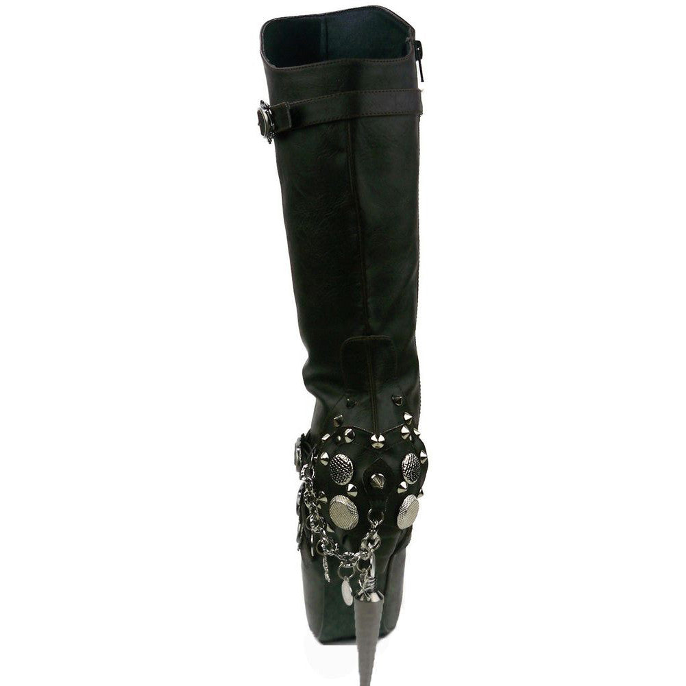 Women's Hades Valda Boot Black Punk Rock Steampunk Goth
