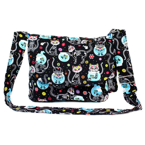 Women's Hemet Cat Day of the Dead Dia de los Muertos Inspired Bag Kitty