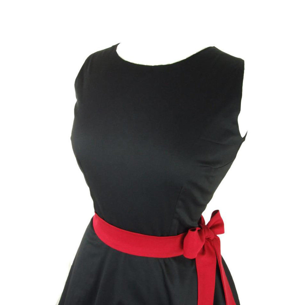 Women's Hemet Classic Black Full Circle Dress Retro Vintage Rockabilly Pin Up