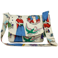 Hemet Colorful Frida Messenger Bag Beige Latina