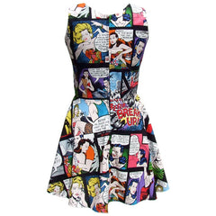 Women's Hemet Comic Strip Skater Dress II Retro Vintage Rockabilly Pin Up