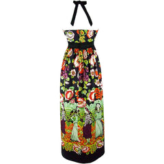 Women's Hemet Frida and Catrinas Maxi Dress Mexican Day of the Dead Floral