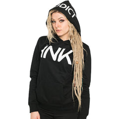 Women's InkAddict INK Lightweight Pullover Hoodie Black/White Tattoo Inked