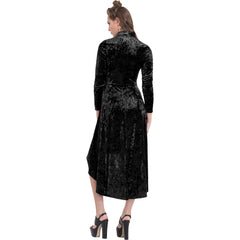 Jawbreaker High And Low Velvet Dress Black Goth Gothic Alternative