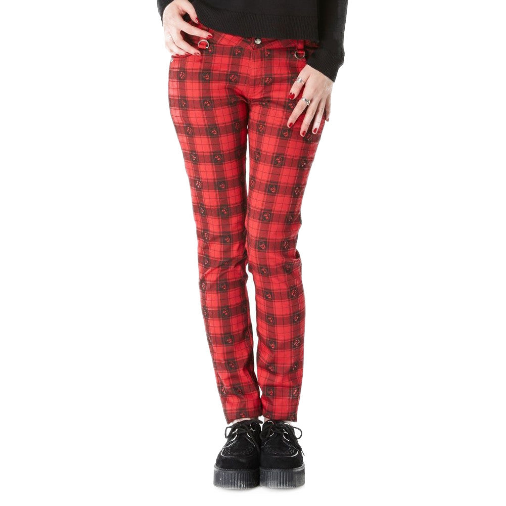 Women's Jawbreaker Skulls Plaid Trousers Punk Rock