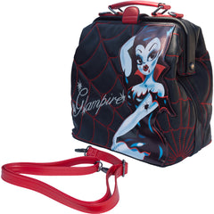 Kreepsville 666 Glampire Doctors Bag Black/Red Vampire Pin Up Goth Psychobilly