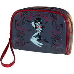 Kreepsville 666 Glampire Make Up Bag Vampire Pin Up Bats Halloween