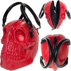 Kreepsville Skull Collection Hand Bag Red Goth Punk Alternative