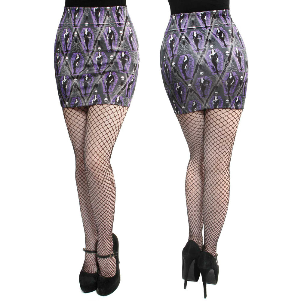 Kreepsville Vampira Arghoul Mini Skirt Psychobilly Classic Horror Spiderwebs