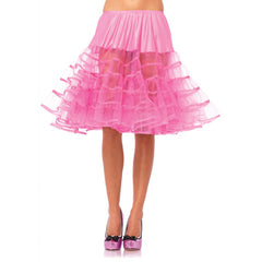 Leg Avenue Knee-Length Petticoat Hot Pink Retro Vintage Rockabilly Pin Up