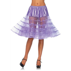 Leg Avenue Knee-Length Petticoat Lavender Retro Vintage Rockabilly Pin Up