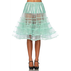 Leg Avenue Knee-Length Petticoat Mint Retro Vintage Rockabilly Pin Up