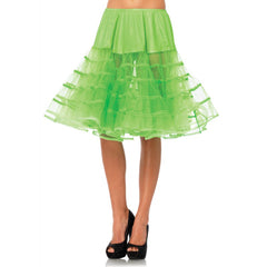 Leg Avenue Knee-Length Petticoat Neon Green Retro Vintage Rockabilly Pin Up