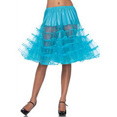 Leg Avenue Knee-Length Petticoat Turquoise Retro Vintage Rockabilly Pin Up