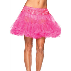 Leg Avenue Layered Tulle Petticoat Fuschia Retro Vintage Rockabilly Pin Up