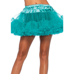 Leg Avenue Layered Tulle Petticoat Teal Retro Vintage Rockabilly Pin Up