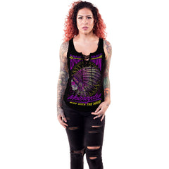 Women's Lethal Angel Broken Arrow Motorcycles Lace Up Tank Top Native American