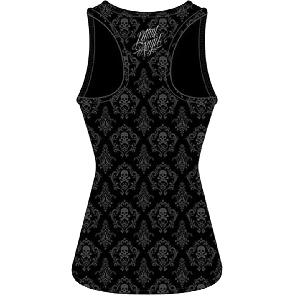 Women's Lethal Angel Dark Widow Sublimation Tank Top Black Day of the Dead Girl