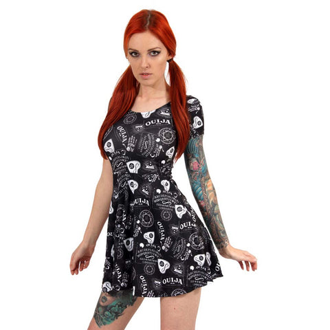 Liquor Brand Ouija Skater Dress Occult Goth Witch Witchcraft Paranormal