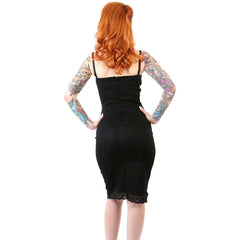 Women's Lucky 13 Valentina Dress Black Bow Retro Vintage Rockabilly Pinup