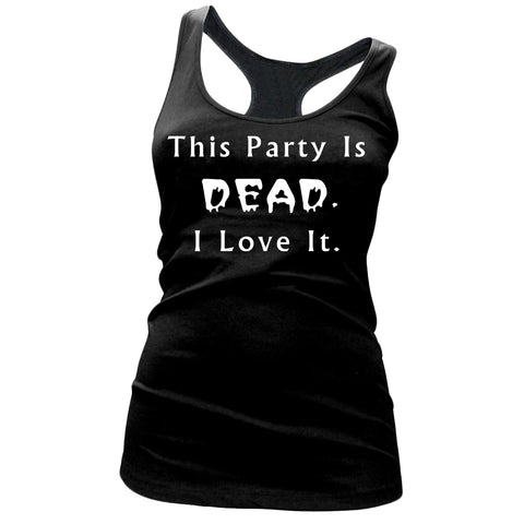 Women's Mayhem Marilyn This Party Is Dead I Love It Tank Top Black Goth