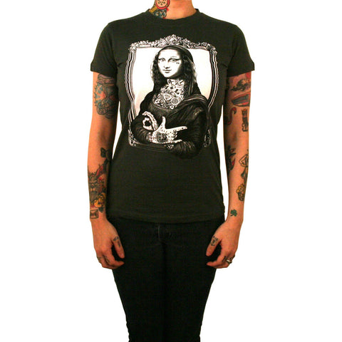 Women's Mona T-Shirt by Jarad Bryant Tattoo Ink Lisa
