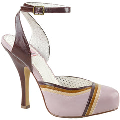Women's Pin Up Couture CUTIEPIE-01 Hidden Platform Sandal Lilac Retro Rockabilly