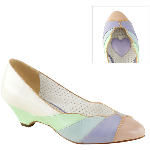 Pin Up Couture LULU-05 Kitten Wedge Pump Multi Color 07598c43065