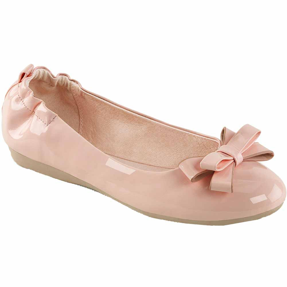Pin Up Couture OLIVE-03 Foldable Ballet Flat Baby Pink Rockabilly Retro Vintage