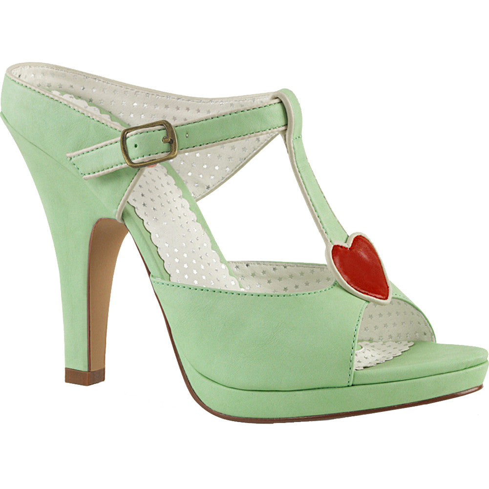 Pin Up Couture SIREN-09 Platform T-Strap Heel Mint Vintage Rockabilly Pin Up