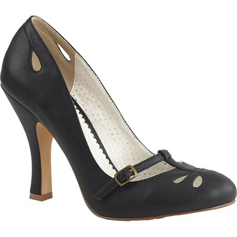 9674b8bbc03 Pin Up Couture SMITTEN-20 Mary Jane Pump Black Rockabilly Vintage Pin Up