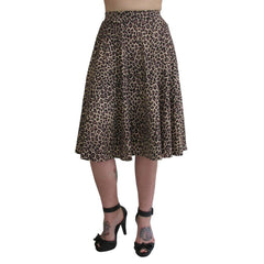 Women's Pinky Pinups Leopard Swing Skirt Retro Rockabilly Pinup Animal Print