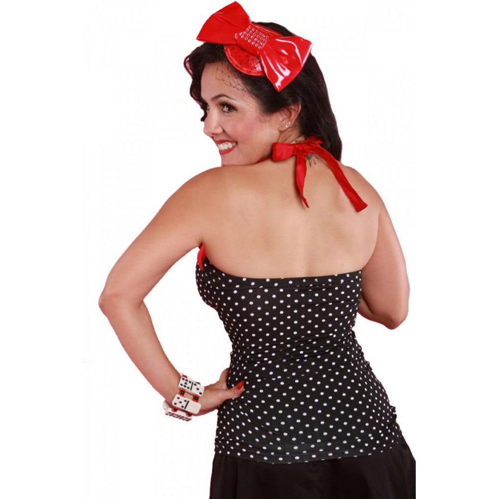 Women's Pinky Pinups Small Dots Halter Top Rockabilly