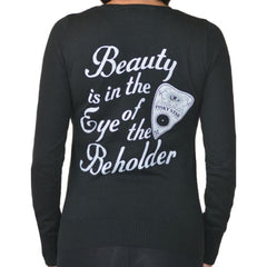 Women's Pinky Star Eye Of The Beholder Cardigan Black Ouija Paranormal