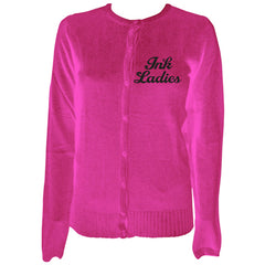 Women's Pinky Star Ink Ladies Cardigan Pink Tattoo Inked Tattooed LIfe