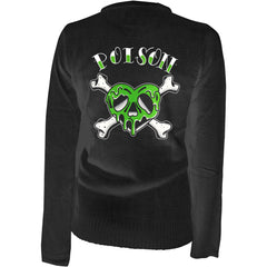 Women's Pinky Star Poison Heart Cardigan Black Rockabilly Psychobilly Skull