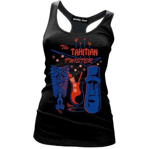Women's Pinky Star The Tahitian Twister Racer Back Tank Top Retro Summer Tiki