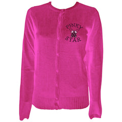 Women's Pinky Star Weapons Of Choice Cardigan Pink Makeup Beauty Supplies