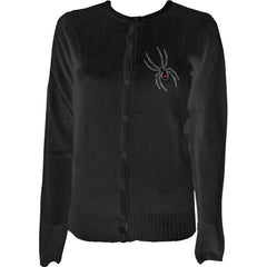 Pinky Star Widow Superstar Cardigan Black Goth Creepy Girl
