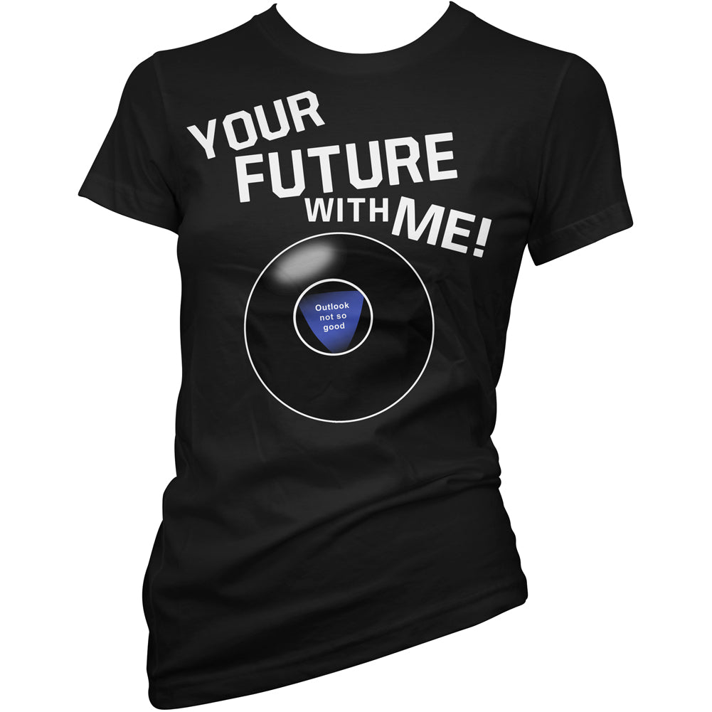 Women's Pinky Star Your Future With Me T-Shirt Black Magic 8 Ball