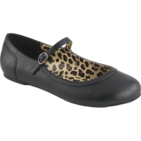 Pleaser ANNA-02 Mary Jane Ballet Flat Black PU Size 9-16