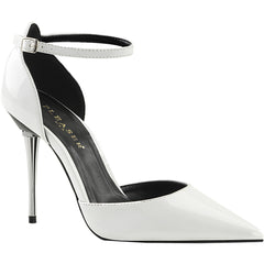 Women's Pleaser APPEAL-21 d'Orsay Pump White Patent Heel
