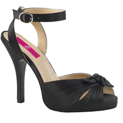 Pleaser EVE-01 Platform Wrap Around Sandal Black Size 9-16  Rockabilly Pinup