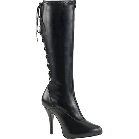 Pleaser EVE-208 Platform Knee Boot Black Size 9-16 Sexy