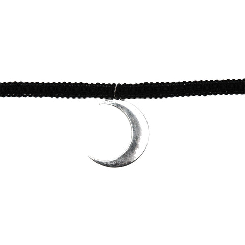 Women's Project Pinup Black Lace Moon Choker Silver/Black Goth Witch