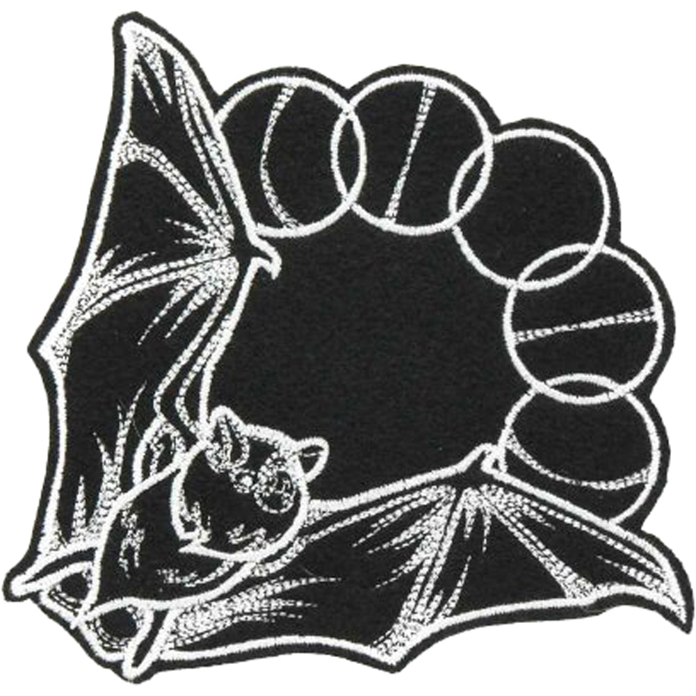 Project Pinup Mystique Lunar Phase Bat Large Patch Black/White Goth Occult Witch
