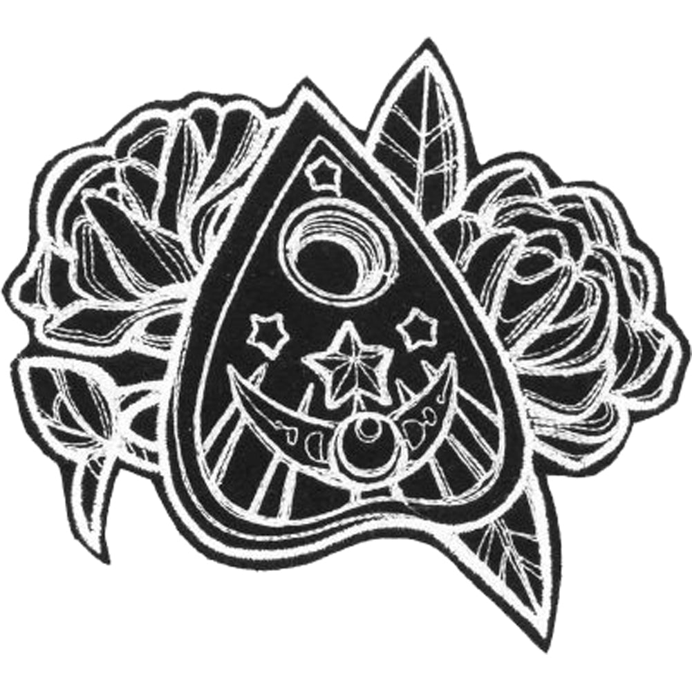 Project Pinup Mystique Planchette Patch Black/White Occult Goth Witch