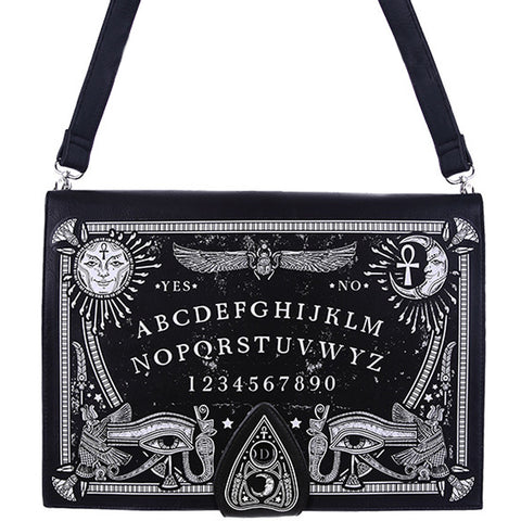Women's Restyle Ouija Board Bag Black Goth Occult Witch