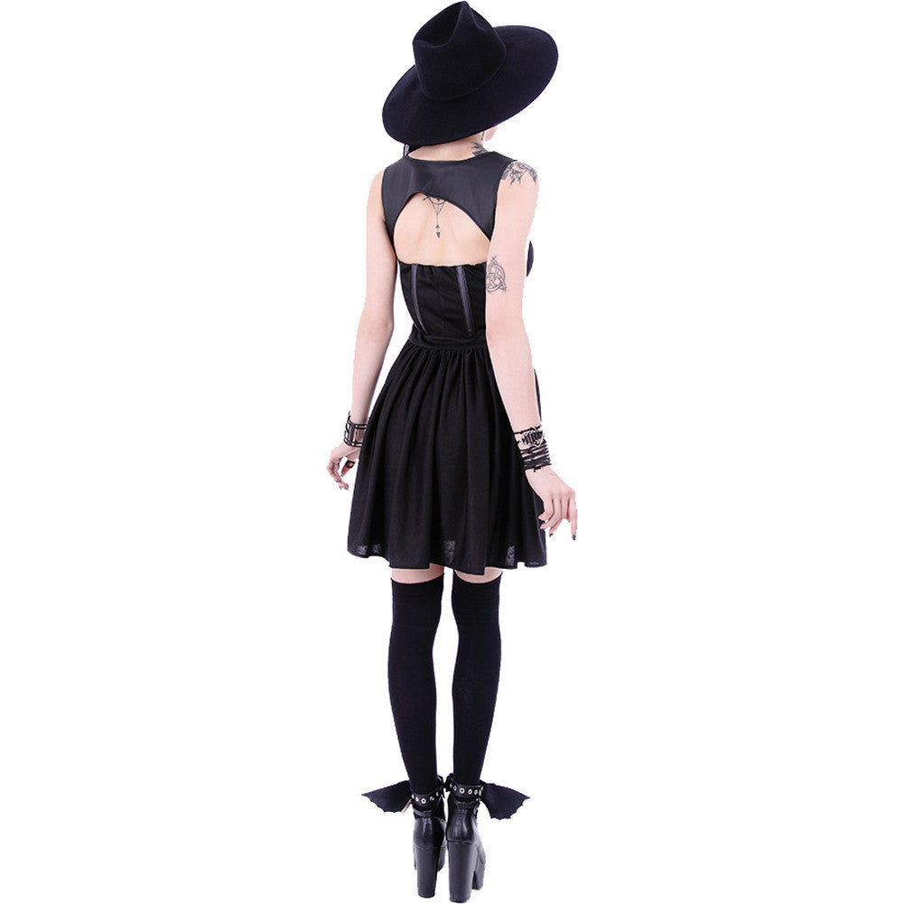 Restyle Tainted Love Dress Black Goth Nugth