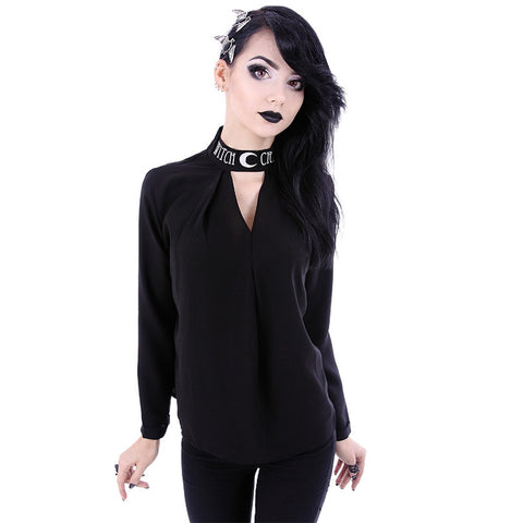 Women's Restyle Witchcraft Shirt Black Goth Occult Witch